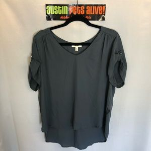 Grey Meraki Short Sleeve Blouse